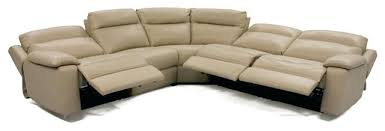 destin leather 5 piece sectional sofa with 3 power recliners