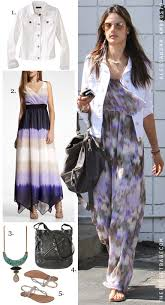 ideas about wearing casual maxi dresses on summer