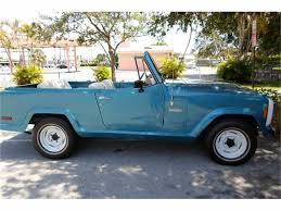 convertible jeep truck 1973 jeep jeepster commando for sale classiccars com cc 758417