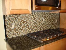 fascinating blue color glass tiles kitchen backsplash with running