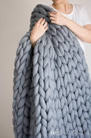 chunky knit blanket chunky knit throw arm knitted blanket
