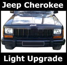 jeep cherokee lights pair of crystal halogen headlights for jeep cherokee headlamp rhd