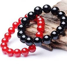 red links bracelet images Natural tibet horns pumpkin beads hand string sheep horn blood jpg
