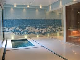 Interior Waterfall Indoor Wall Mosaic Waterfall Fountain Contemporary Pool Los
