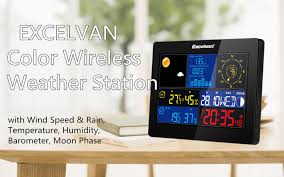 2016 new excelvan color wireless weather station wind speed