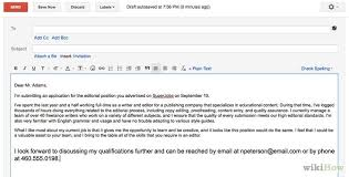 Sample Email Message With Attached Resume by Awesome Collection Of When To Send A Cover Letter With Download