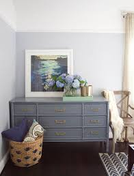 dresser painted with the color wolf gray by benjamin moore design