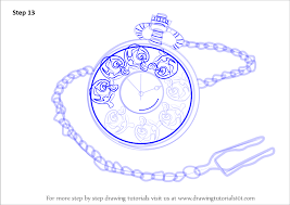 learn how to draw a pocket watch everyday objects step by step