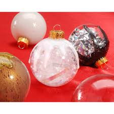 clear glass ornaments 70mm glass balls 6 pack