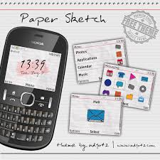 udjo42 themes for nokia c3 udjo42 high quality nokia themes nokia c3 theme paper sketch