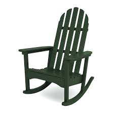 Recycled Plastic Patio Furniture Outdoor Rocking Chair Black Chic Outdoor Furniture Rocking Chair