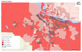 map of oregon freeways asthma rates regional equity atlas