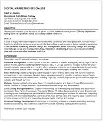 Digital Marketing Specialist Resume Sample Resume Internet Marketing Manager