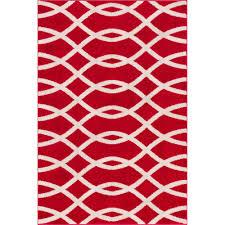 well woven mystic poofy red 5 ft x 7 ft modern trellis area rug