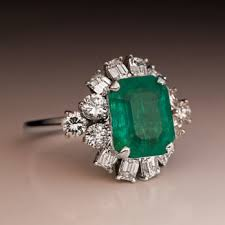 emerald engagement ring emerald engagement rings antique jewelry vintage rings