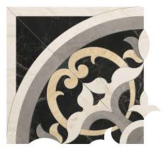 Elegance Black And White Mosaic by Specialty Tile Products Atlas Marvel Pro Cremo Delicato