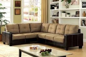 Cream Colored Sectional Sofa by Sassari Corner Sectional Sofa In Double Tone Finish Cm6453