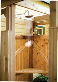Outdoor Shower Pole by Bathroom Countryside Outdoor Type Shower Idea Outdoor Shower