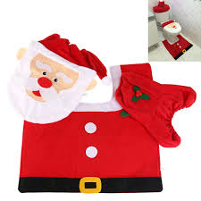 amazon com santa toilet seat cover and rug set christmas bathroom