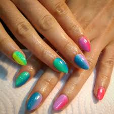 orange blue nail designs gallery nail art designs