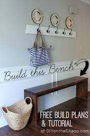 Free Wood Bench Plans by Entryway Bench Plans U0026 Tutorial Erin Spain