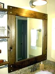 Trim For Mirrors In Bathroom Large Framed Bathroom Mirrors Contemporary Chagne Distressed