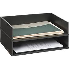 Wood Desk Accessories Victor Wood Desk Accessories Letter Tray Midnight Black Staples