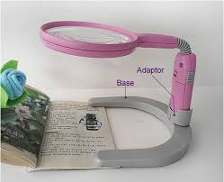 loupe de bureau mains libres 2 5x libre banc bureau loupe éclairante avec la lumière et