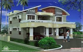 modern home design 3000 square feet sq ft double floor sloping roof on 3000 sq ft modern house design