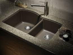 black countertop with black sink kitchen sinks apron black stainless steel sink single bowl u shaped