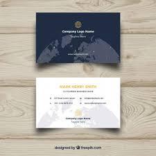 visitenkarten design kostenlos visitenkarte mit weltkugel der kostenlosen vektor