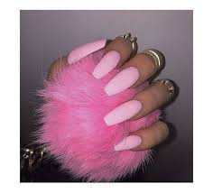 jewels ring pink fur fur pink pink nails gold mid finger