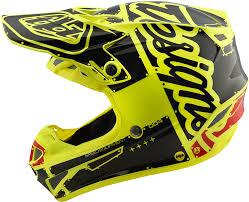 yellow motocross helmets 2018 troy lee designs se4 polyacrylite factory helmet motocross