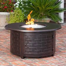 round propane fire pit table paramount fp 285 zach 50 000 btu round propane fire pit table