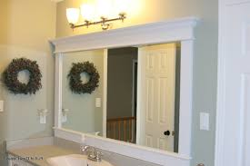 How To Frame A Wall by An Old Bathroom Mirror Framing Frame Around A Wall With Molding