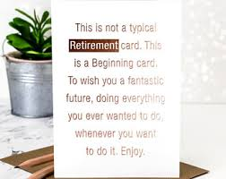 words for retirement cards retirement card etsy