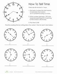 practice test telling time worksheet education com