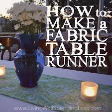 how to make a table runner with pointed ends how to make a fabric table runner living well spending less