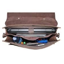 Cowhide Briefcase Vagabond Traveler 16 5