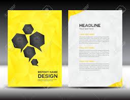 Vorlage Lorem Ipsum Gelbe Abdeckung Jahresbericht Vorlage Polygon Hintergrund