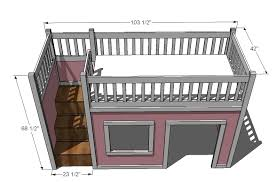 Free Full Size Loft Bed With Desk Plans by Ana White Storage Stairs For The Playhouse Loft Bed Diy Projects
