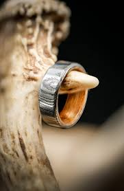 unique metal rings images Damascus steel wedding band with whiskey barrel lining available jpg