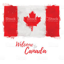 symbol poster banner canada flag of canada with the decoration of