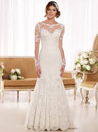 illusion neckline wedding dress essense wedding gown d1863 dimitradesigns