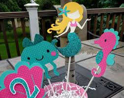 Under The Sea Centerpieces by Mermaid Centerpieces Etsy