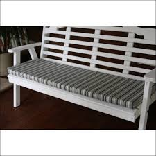 interiors magnificent 54 inch gray bench cushion light grey