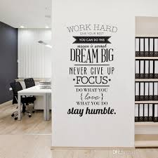 Large Wall Stickers For Living Room by Large Size Work Hard Quote Wall Decal Pvc Three Colors Enlish