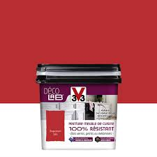 v33 cuisine et bain peinture décolab meuble de cuisine 100 résist v33 piment