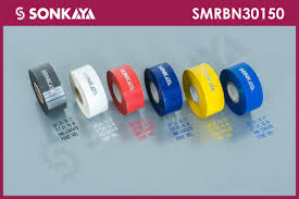 sonkaya smrbn150 black stamping foil ribbon 30mm 150 meters 10 set