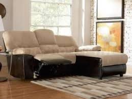 Small Reclining Sofa Small Sectional Sofa With Recliner Foter